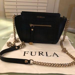Furla Gold Chain Black Sachel